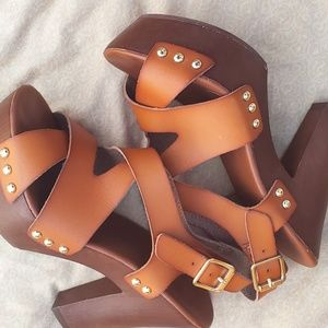 Candie's crisscross sandals